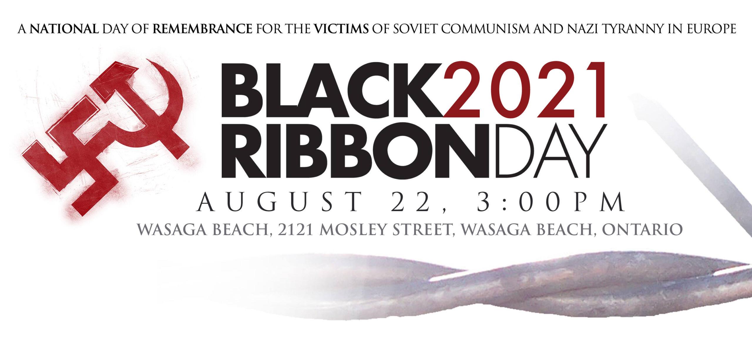 Black Ribbon Day 2021 Wasaga Beach